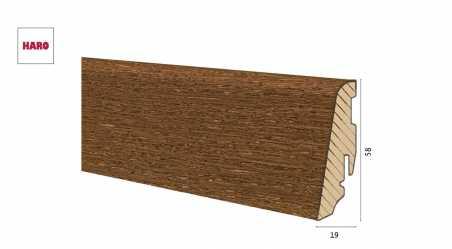 Medinė faneruota grindjuostė Haro Ąžuolas Nutmeg Brown 19*58 MM