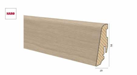 Medinė faneruota grindjuostė Haro Ąžuolas Sand Grey 19*58 MM