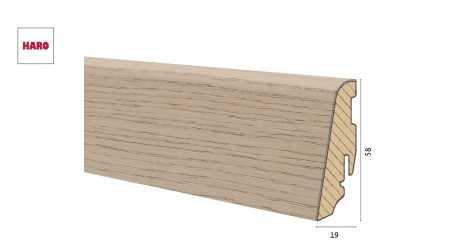 Medinė faneruota grindjuostė Haro Ąžuolas Sand Grey Brushed 19*58 MM