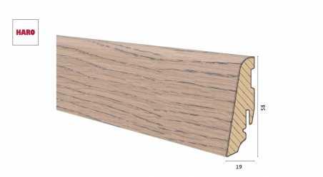 Medinė faneruota grindjuostė Haro Ąžuolas Tobacco Grey 19*58 MM