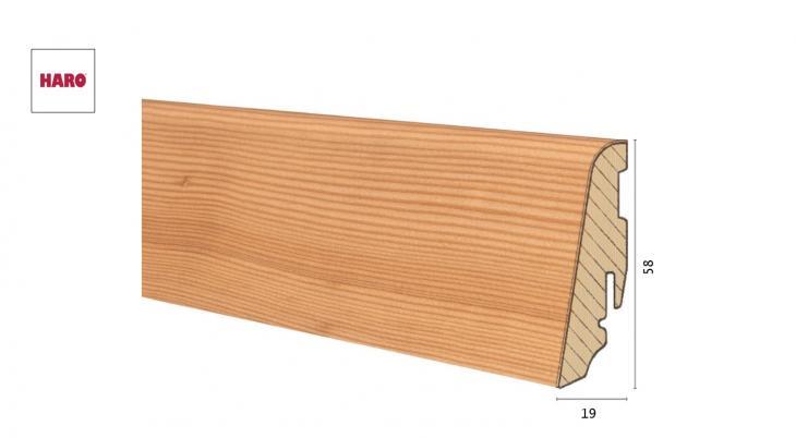 Medinė faneruota grindjuostė Haro Maumedis 19*58 MM