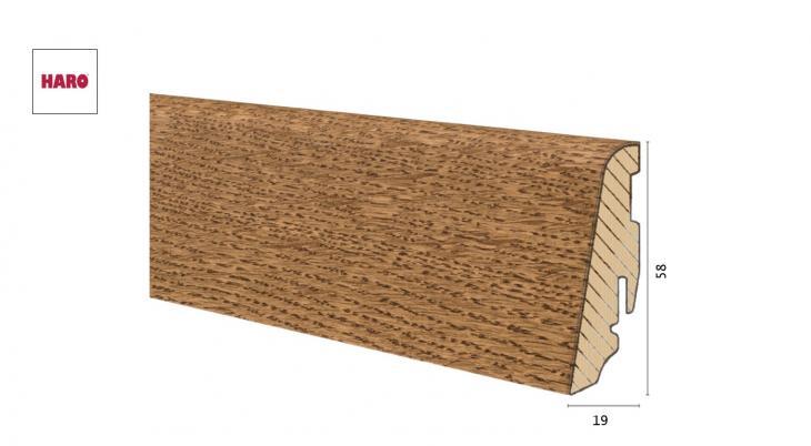 Medinė faneruota grindjuostė Haro Ąžuolas Fumed 19*58 MM
