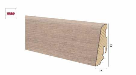 Medinė faneruota grindjuostė Haro Ąžuolas Fumed Puro White 19*58 MM