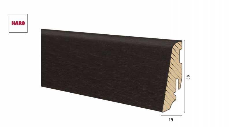 Medinė faneruota grindjuostė Haro Ąžuolas Thermo Forte 1958 MM