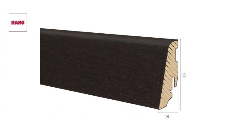 Medinė faneruota grindjuostė Haro Ąžuolas Thermo Forte 19*58 MM
