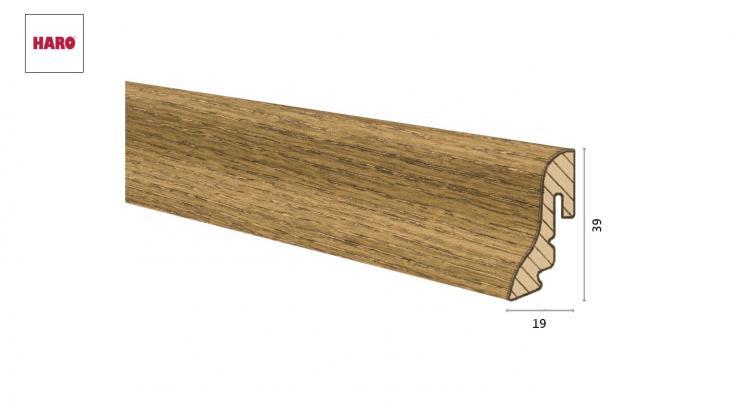 Medinė faneruota grindjuostė Haro Ąžuolas Velvet Brown 19*39S MM