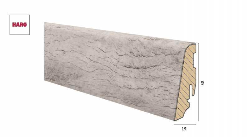 Medinė laminuota grindjuostė Disano by Haro Ąžuolas Antique Creme 1958 MM