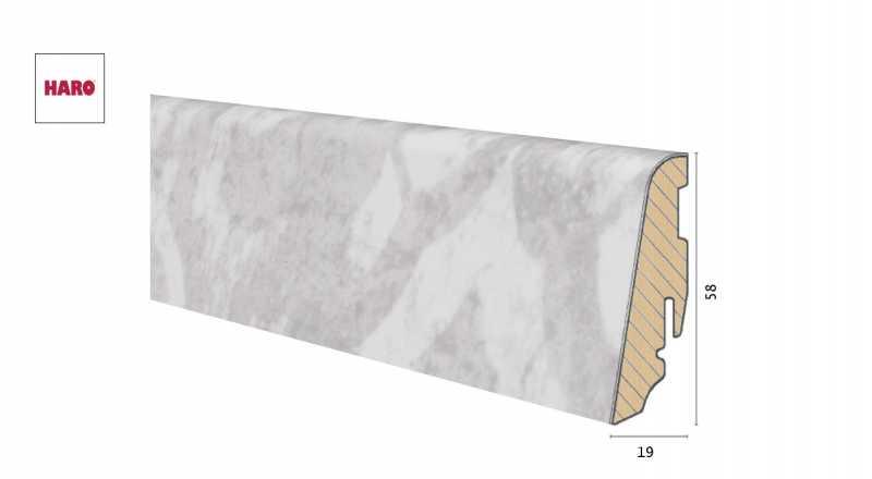 Medinė laminuota grindjuostė Disano by Haro Artdesign Crema 1958 MM