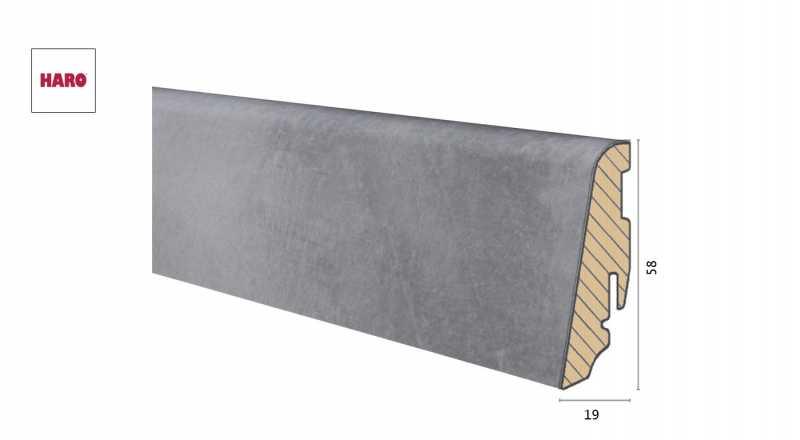 Medinė laminuota grindjuostė Disano by Haro Betonas Grey 1958 MM