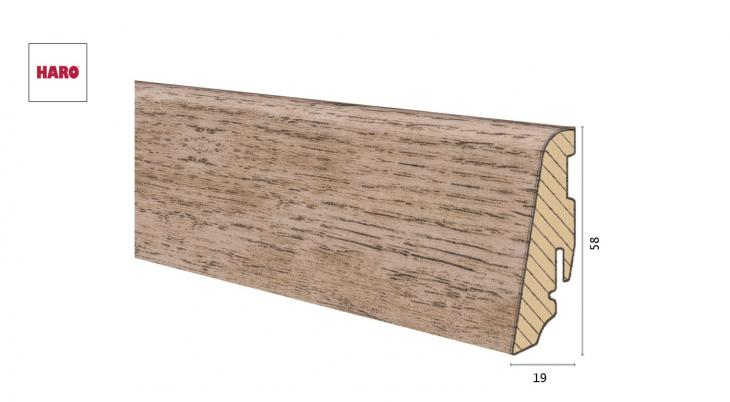 Medinė laminuota grindjuostė Disano by Haro Ąžuolas Country Nature 19*58 MM