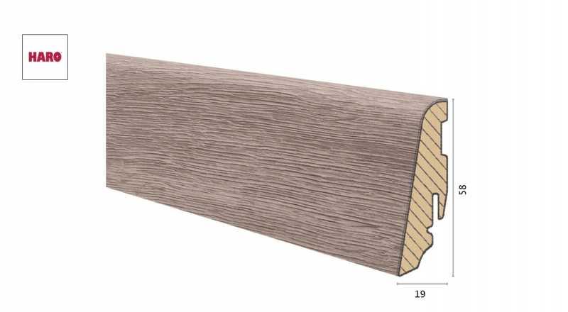 Medinė laminuota grindjuostė Disano by Haro Ąžuolas Columbia Grey 1958 MM