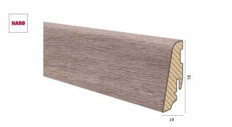 Medinė laminuota grindjuostė Disano by Haro Ąžuolas Columbia Grey 19*58 MM
