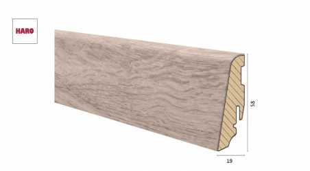 Medinė laminuota grindjuostė Disano by Haro Ąžuolas Columbia Light 19*58 MM