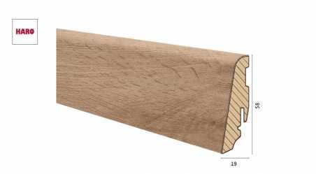 Medinė laminuota grindjuostė Disano by Haro Ąžuolas Columbia Nature 19*58 MM