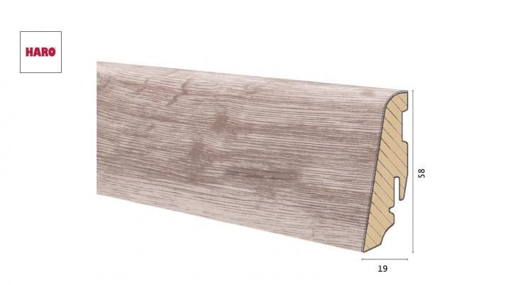 Medinė laminuota grindjuostė Disano by Haro Ąžuolas Glacier 19*58 MM