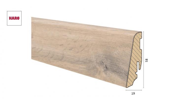 Medinė laminuota grindjuostė Disano by Haro Ąžuolas Jubile 19*58 MM