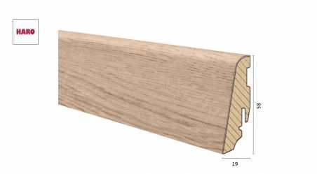 Medinė laminuota grindjuostė Disano by Haro Ąžuolas Lavida 19*58 MM