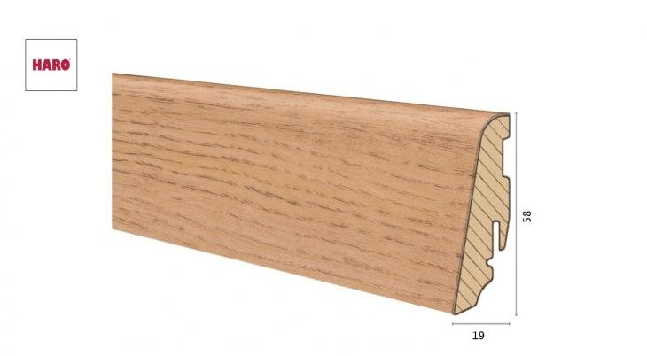 Medinė laminuota grindjuostė Disano by Haro Ąžuolas Nature 19*58 MM