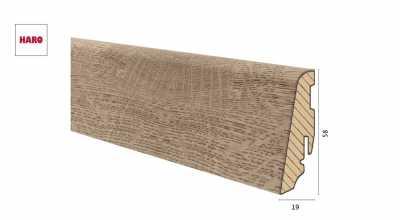 Medinė laminuota grindjuostė Disano by Haro Ąžuolas Oxford 1958 MM