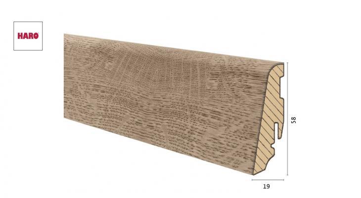 Medinė laminuota grindjuostė Disano by Haro Ąžuolas Oxford 19*58 MM