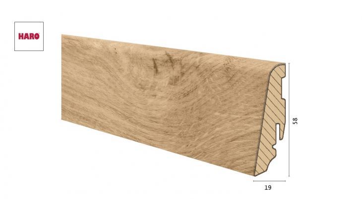 Medinė laminuota grindjuostė Disano by Haro Ąžuolas Phoenix 19*58 MM
