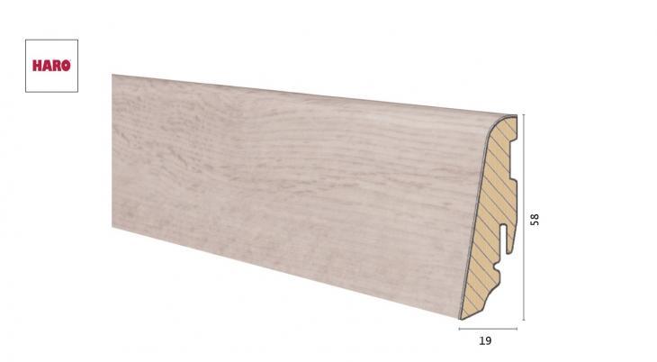 Medinė laminuota grindjuostė Disano by Haro Ąžuolas Provence Creme 19*58 MM