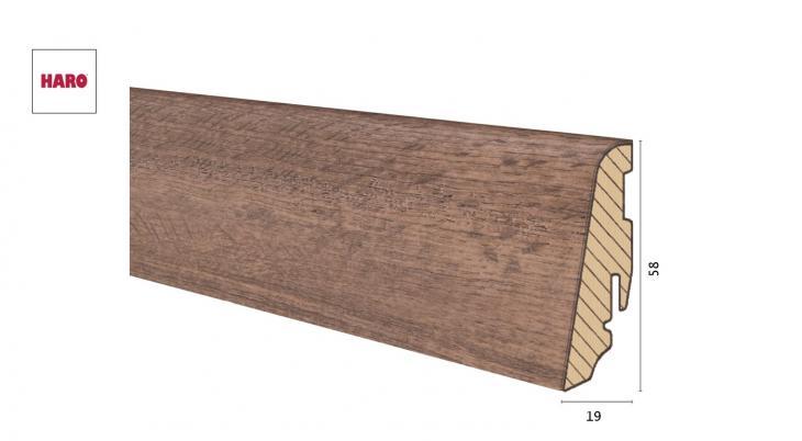Medinė laminuota grindjuostė Disano by Haro Ąžuolas Provence Smoked 19*58 MM
