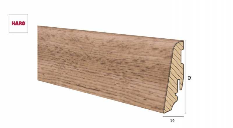 Medinė laminuota grindjuostė Disano by Haro Ąžuolas Provence Nature 1958 MM