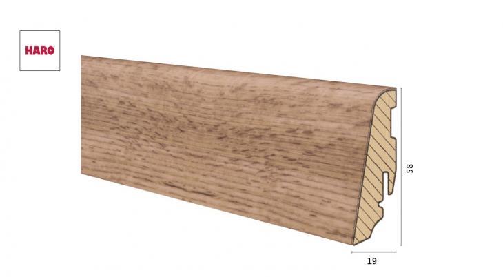 Medinė laminuota grindjuostė Disano by Haro Ąžuolas Provence Nature 19*58 MM
