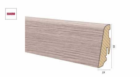 Medinė laminuota grindjuostė Disano by Haro Ąžuolas Riva 19*58 MM