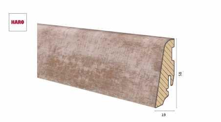 Medinė laminuota grindjuostė Disano by Haro Ąžuolas Vintage Greige 19*58 MM