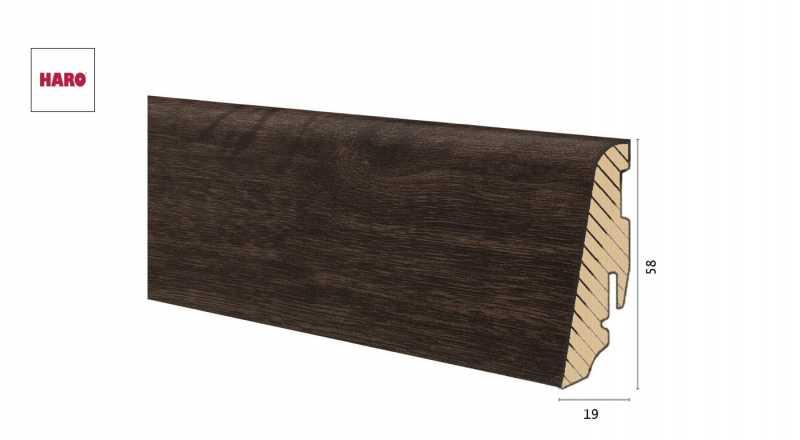 Medinė laminuota grindjuostė Disano by Haro Ąžuolas FrenchSmoked 1958 MM