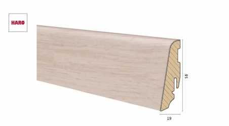 Medinė laminuota grindjuostė Disano by Haro Ąžuolas Crystal 19*58 MM