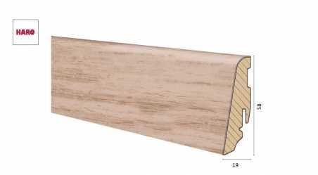 Medinė laminuota grindjuostė Disano by Haro Ąžuolas Light 19*58 MM