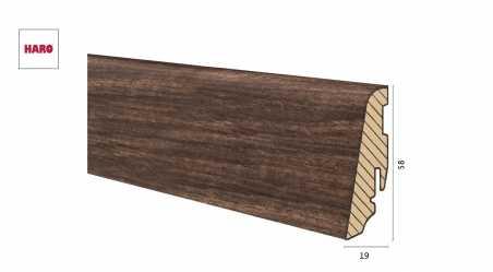 Medinė laminuota grindjuostė Disano by Haro Riešutas 19*58 MM