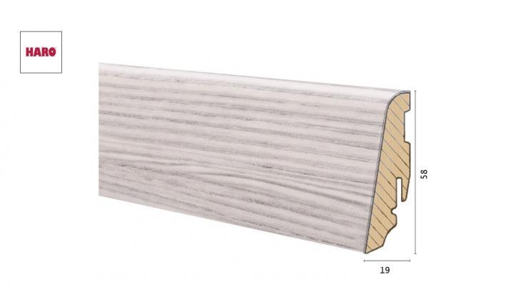 Medinė laminuota grindjuostė Disano by Haro Pušis Nordica 19*58 MM