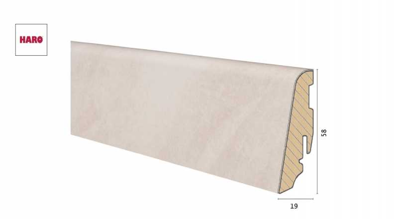 Medinė laminuota grindjuostė Disano by Haro Sand Stone 1958 MM
