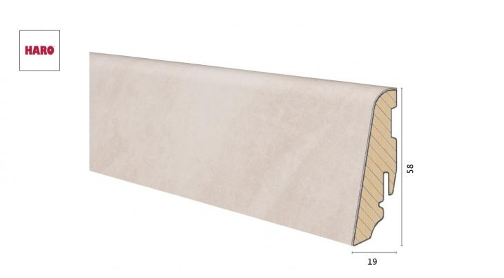 Medinė laminuota grindjuostė Disano by Haro Sand Stone 19*58 MM