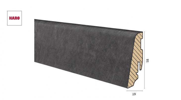 Medinė laminuota grindjuostė Disano by Haro Antracitas Slate 19*58 MM