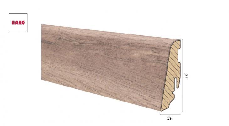 Medinė laminuota grindjuostė Disano by Haro Ąžuolas Holm Creme 19*58 MM