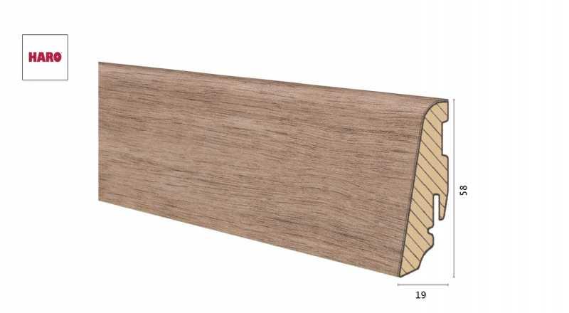 Medinė laminuota grindjuostė Disano by Haro Ąžuolas Tabacco 1958 MM