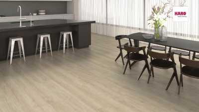 Laminuotos grindys Haro Tritty 200 Gran Via Aqua Ąžuolas Eleganza Creme White