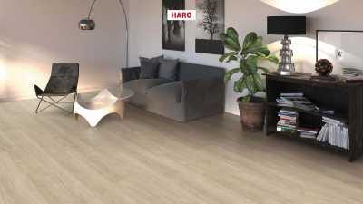 Laminuotos grindys Haro Tritty 100 Gran Via Ąžuolas Eleganza Creme White