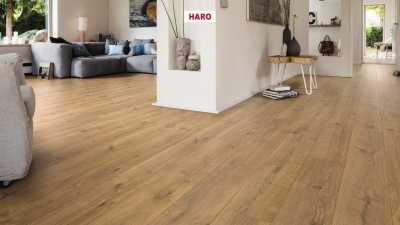 Laminuotos grindys Haro Tritty 100 Gran Via Ąžuolas Portland Nature su akustiniu SILENT PRO paklotu