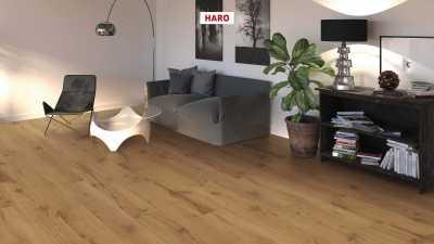 Laminuotos grindys Haro Tritty 100 Ąžuolas Alpine Nature su akustiniu SILENT PRO paklotu