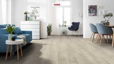 Laminuotos grindys Haro Tritty 100 Ąžuolas Bergamo Silver Grey