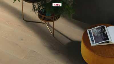 Trisluoksnė parketlentė Haro Plank Ąžuolas Graphite Grey Sauvage 4V