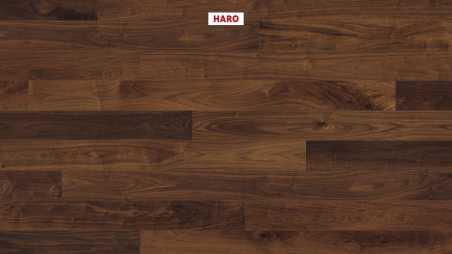Trisluoksnė parketlentė Haro Plank Amerikietiškas Riešutas Sauvage 4V