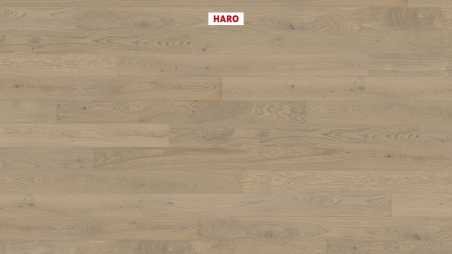Trisluoksnė parketlentė Haro Plank Ąžuolas Sand Grey Markant 2V