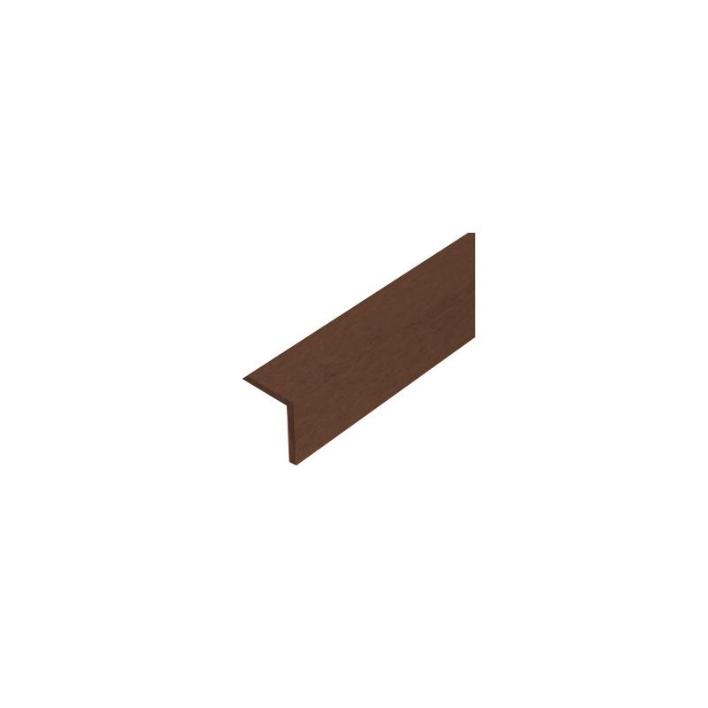 Apdailos kampas terasinėms lentoms 45x45 mm, rudas nuotrauka